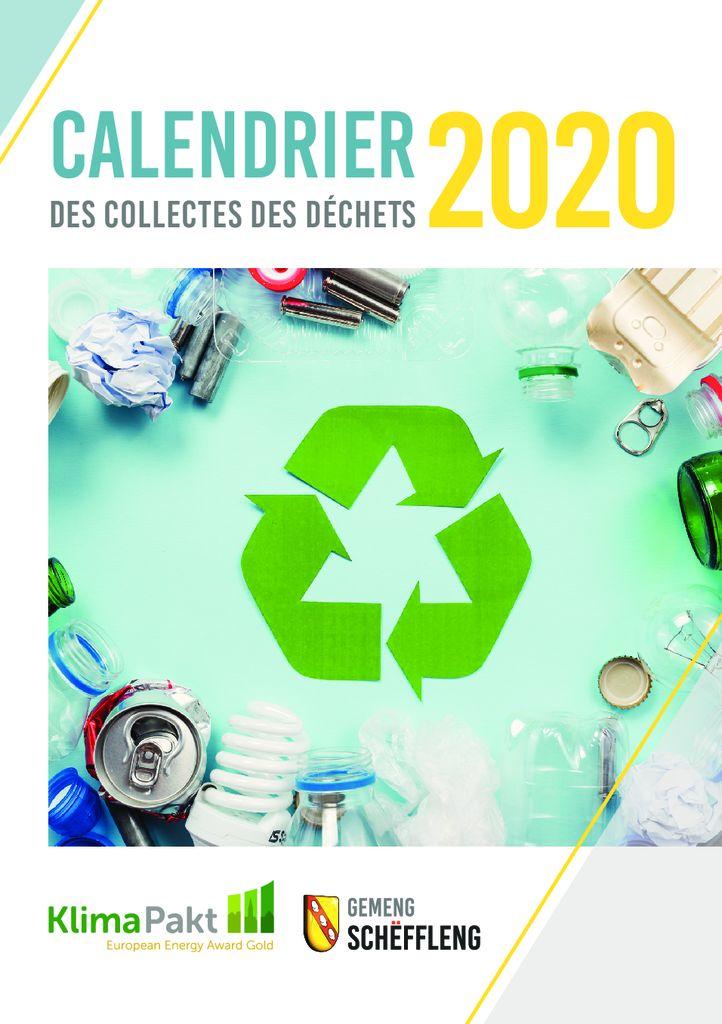 Calendrier des collectes des déchets 2020