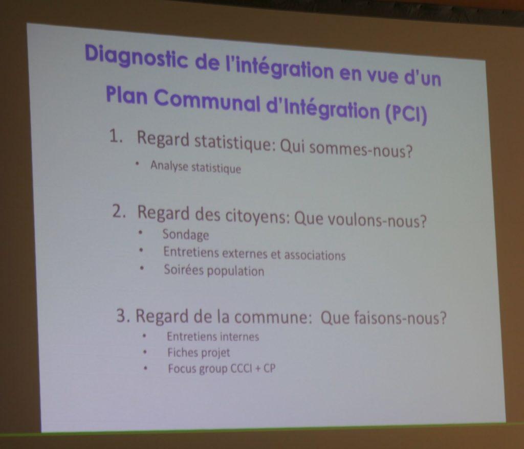 Présentation du diagnostic (CEFIS) de l'integration en vue de l'etablissement d'un plan communal d'intégration (PCI)
