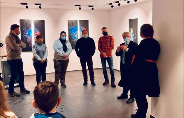 Vernissage de l'exposition d'Anne Lindner