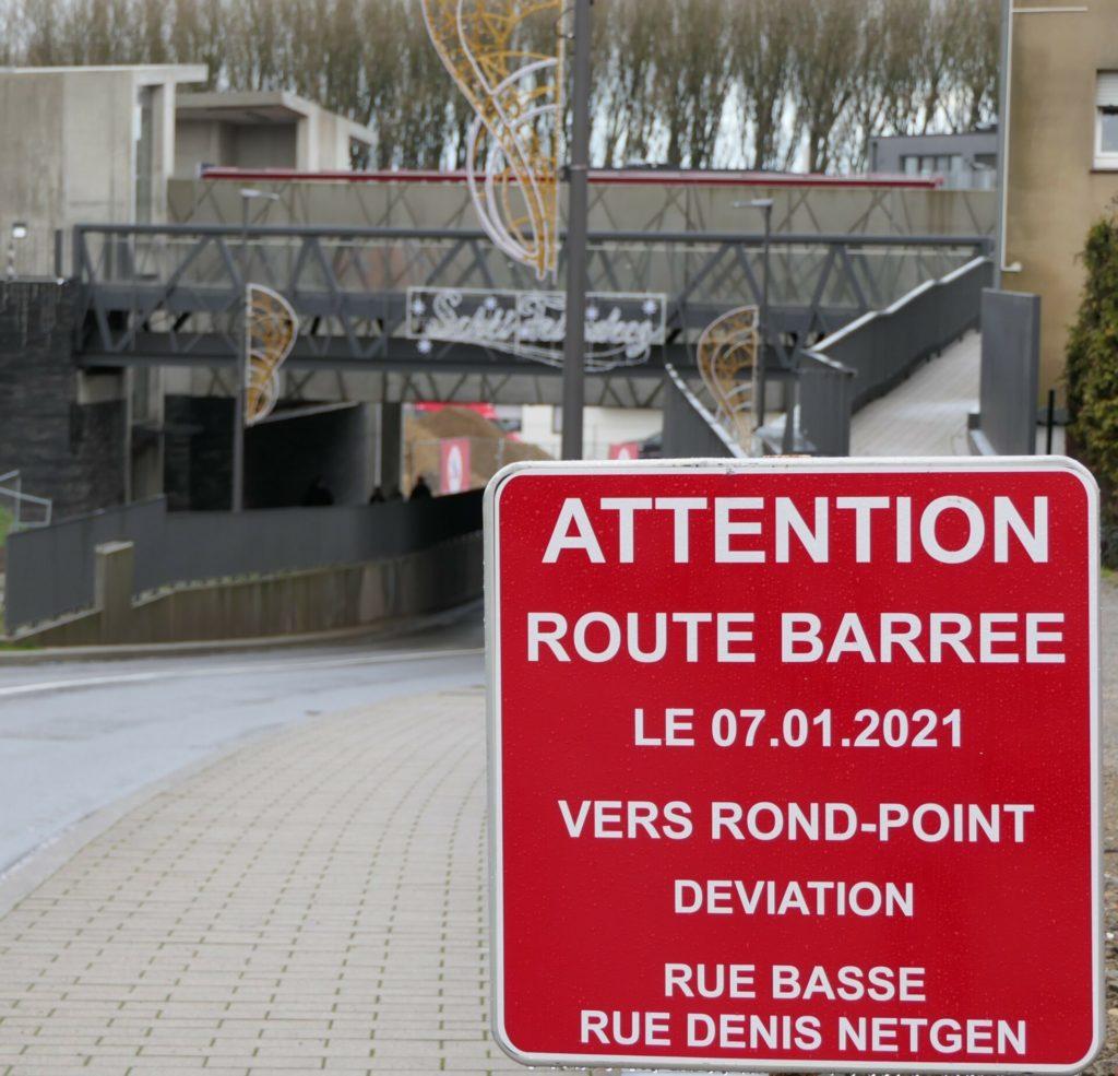 Rue de Drusenheim barrée!